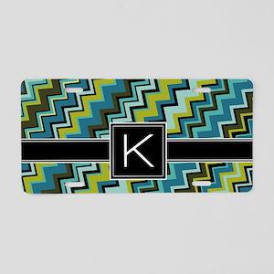 K_zig_inital_03 Aluminum License Plate
