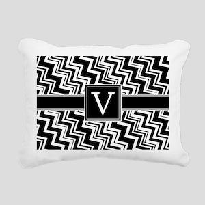 V_zig_inital_02 Rectangular Canvas Pillow