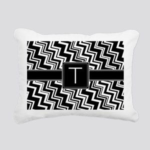 T_zig_inital_02 Rectangular Canvas Pillow
