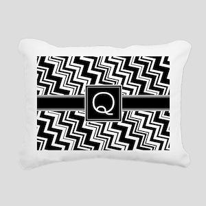 Q_zig_inital_02 Rectangular Canvas Pillow