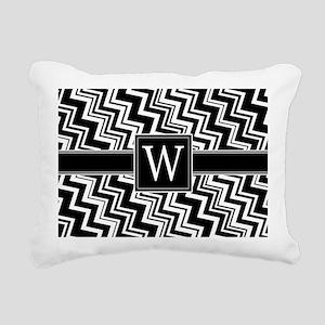 W_zig_inital_02 Rectangular Canvas Pillow