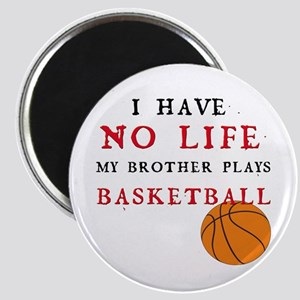 No Life....Basketball Magnet