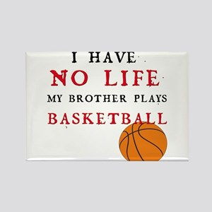 No Life....Basketball Rectangle Magnet