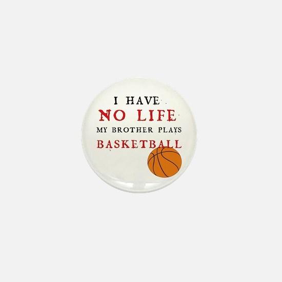 No Life....Basketball Mini Button