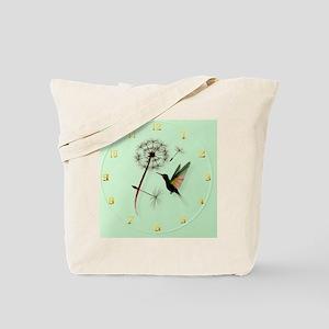Dandelion and Hummingbird-wallclock Tote Bag