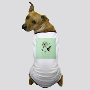 Dandelion and Hummingbird-circle Dog T-Shirt