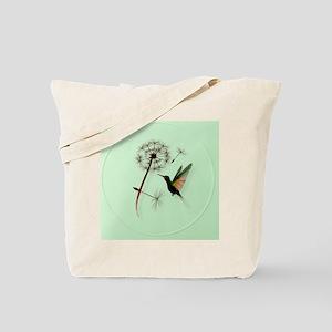 Dandelion and Hummingbird-circle Tote Bag