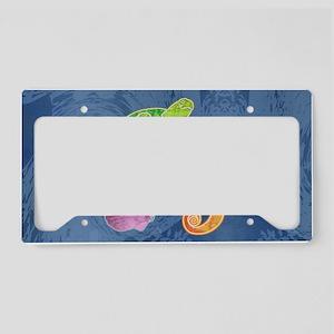 shoulderSeaMural License Plate Holder