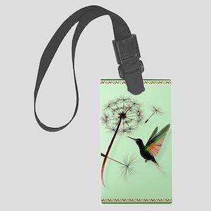 KEY CHAIN-Dandelion and Hummingb Large Luggage Tag