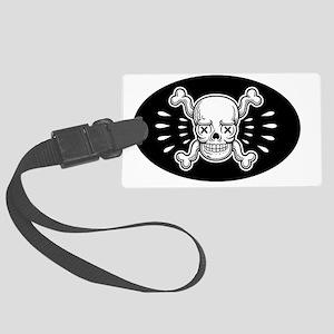 x-eye-skull-HAT Large Luggage Tag