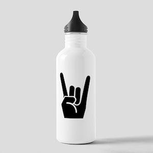 Rock Fingers Black FBC Stainless Water Bottle 1.0L