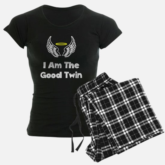 I Am The Good Twin White FBC Pajamas