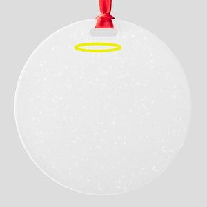 I Am The Good Twin White FBC Round Ornament