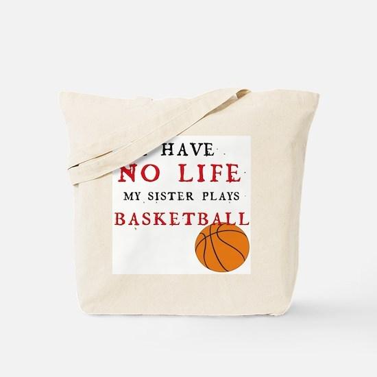 No Life....Basketball Tote Bag