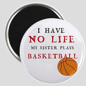 No Life....Basketball Magnet
