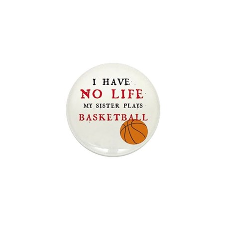 No Life....Basketball Mini Button