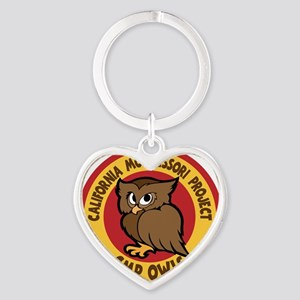 OWLS, color Heart Keychain