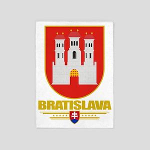 Bratislava COA (Flag 10) 5'x7'Area Rug