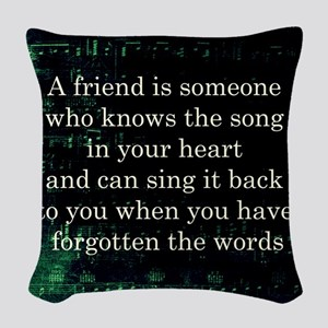 friendpillow Woven Throw Pillow