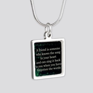 friendpillow Silver Square Necklace