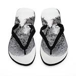 Standard Poodle (Parti) Flip Flops