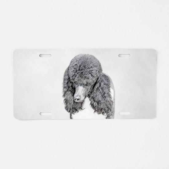 Standard Poodle (Parti) Aluminum License Plate