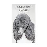 Standard Poodle (Parti) Sticker (Rectangle)