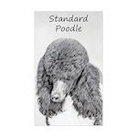Standard Poodle (Parti) Sticker (Rectangle 10 pk)