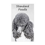 Standard Poodle (Parti) Sticker (Rectangle 50 pk)