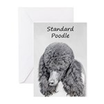 Standard Poodle (Parti) Greeting Cards (Pk of 20)