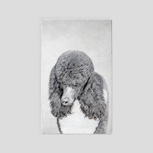 Standard Poodle (Parti) Area Rug
