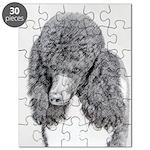 Standard Poodle (Parti) Puzzle