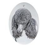 Standard Poodle (Parti) Oval Ornament