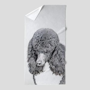 Standard Poodle (Parti) Beach Towel