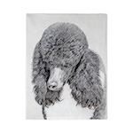 Standard Poodle (Parti) Twin Duvet Cover