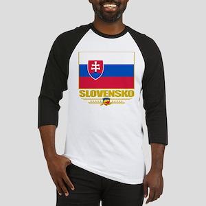 Slovakia (Flag 10) Baseball Jersey