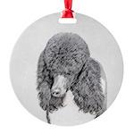 Standard Poodle (Parti) Round Ornament