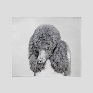 Standard Poodle (Parti) Throw Blanket