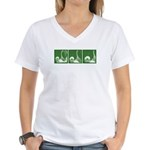 Green Thrust Women's V-Neck T-Shirt