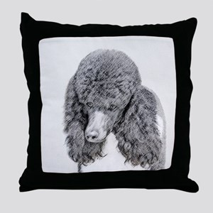 Standard Poodle (Parti) Throw Pillow