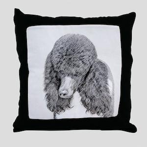 Standard Poodle (Parti) Throw Pillow