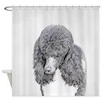 Standard Poodle (Parti) Shower Curtain
