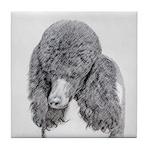 Standard Poodle (Parti) Tile Coaster