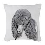 Standard Poodle (Parti) Woven Throw Pillow