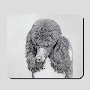 Standard Poodle (Parti) Mousepad