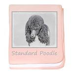 Standard Poodle (Parti) baby blanket