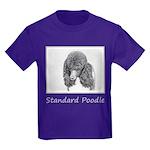 Standard Poodle (Parti) Kids Dark T-Shirt