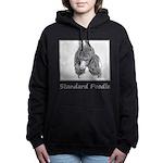 Standard Poodle (Parti) Women's Hooded Sweatshirt