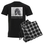 Standard Poodle (Parti) Men's Dark Pajamas