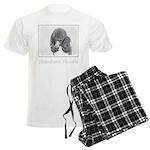 Standard Poodle (Parti) Men's Light Pajamas